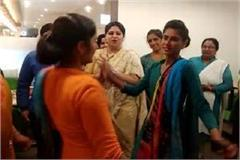 haryana hindi news women day celebrated in rewari ladies danced