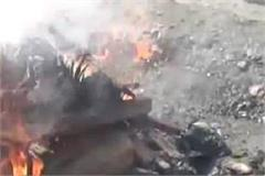 watch in video how chamba police set fire to charas