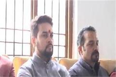 anurag thakur s pinch on congress