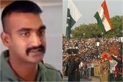 welcome back abhinandan at bagha and atari border