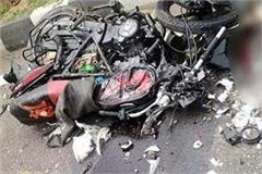motorcycle collided with stand truck 3 dead including two girl students