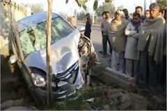 haryana news lady going for walk died in road accident hit by a car