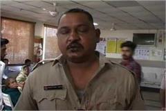 angered guy beaten police man