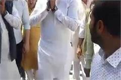 dushyant chautala abhay chautala as seen from slippers as he