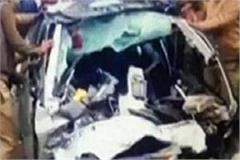 the speeding truck collided with the car