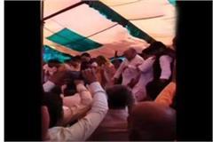 bjp s holi meet ceremony held at sambhal  injured 10