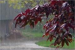 rainfall estimates in many places in uttar pradesh on wednesday