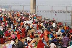 kumbh mela 2019 before mahashivaratri devotees crowd on sangam