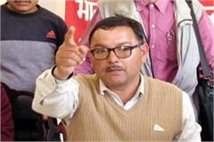 cpim candidate gives an open challenge of debate to mp ramsawroop sharma