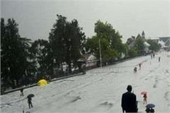 heavy hail in shimla