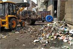 rewari dumping station on road