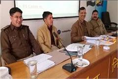 crime meeting  solan police eyes on smugglers during elections