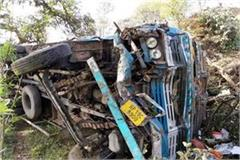 truck fall into ditch driver injured