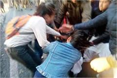 abvp sfi fight in hpu