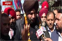 sidhu thanked the pm modi minister