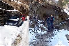 landslide in tosh area 15 tourist stranded