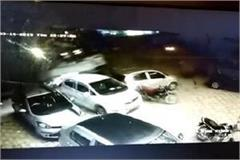 fast speed truck collides by parked cars cctv recorded