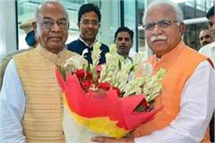 haryana hindi news cm meets to governer privately for vs election in haryana