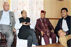 cm s meeting in closed room with gulab and prakash rana