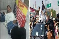 priyanka gandhi s convoy crushed a woman soldier admitted to hospital