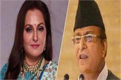 jaya prada files case against azam bjp complains against khan s son