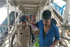 army personnel harassed in train