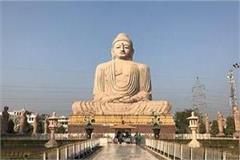 construction of buddha s 200 ft high statue in kushinagar starting from may