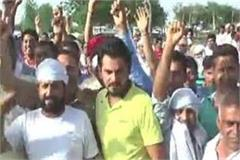 speaking of farmers  protest against closure of bhadsen sugar mill nilokheri