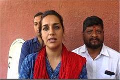 congress leader blamed on anil vij warns of agitation