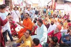 sloganeering by devotees of amritsar in deotsidh temple