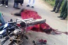 firozabad bike riders in a accident tragic death of 3 youths