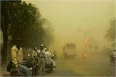 mood of the storm also showed in mp dust storms in many areas sharp rains
