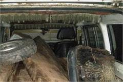 arrested a wooden smuggler with 10 sleepers of cedar