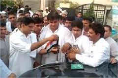 inld distt president pawan rathi joined congress with workers