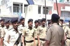 police jawan on the streets of una in the heat