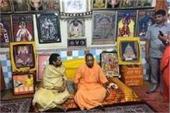 cm yogi visited the temple temple during the 72 hour