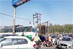 traffic jam in baddi