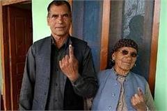 cm jayram s mother and elder brother did voting