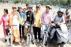 message of voting through bicycle and bike rally