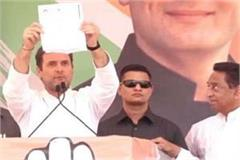 rahul said in neemuch shivraj s brother was a debt waiver