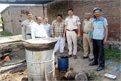 one arrested with furnace and illegal liquor