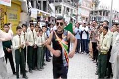 this divyang runner running to help of kidney sufferer