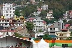 solan city in saffron color for pm modi rally