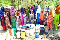 villagers troubled by water problem government office for 1 hour