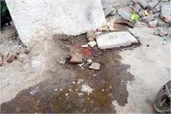 sewerage in bus stand