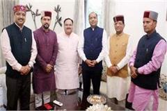 cm jairam met from jp nadda with newly elected mps