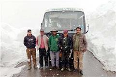 bus trial in rohtang pass