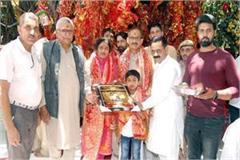 satti reached in maa chintpurni temple
