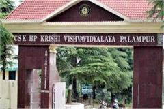 agricultural university  110 candidates will contest for one seat