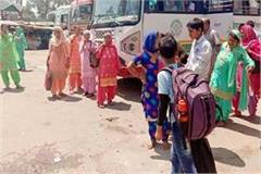 81 buses of hrtc on election duty